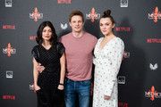 "(L-R) Alessandra Mastronardi, Bradley James and Synnove Karlsen attend the premiere of ""MEDICI: The Magnificent"" at The Soho Hotel on January 18, 2019 in London, England."