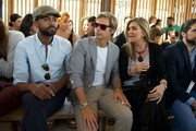(l-R) Paulo Wilson, singer Carlos Baute and Susana Uribarri attend the  Jockey show during MFSHOW (Men Fashion Show) 2014 day 2 at COAM on July 15, 2014 in Madrid, Spain.