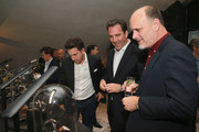 (L-R) David Katz, The Hollywood Reporter Editorial Director Matthew Belloni, and Degen Pener attend MR PORTER Celebrates The Hollywood Reporter's Annual Watch Issue on November 8, 2018 in Los Angeles, California.
