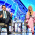 Michelle Hunziker Gianni Onorato Photos - Gianni Onorato, CEO of MSC Cruises and Michelle Hunziker speak at the Media Briefing at the MSC Grandiosa Naming Ceremony on November 09, 2019 in Hamburg, Germany. - MSC Grandiosa Naming Ceremony, Hamburg
