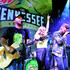 """Chris Lucas and Preston Brust of musical duo LOCASH and Lindsay Ell perform onstage during MTN DEW's """"The Tennessee Original Outpost"""" at Ole Red on October 22, 2019 in Nashville, Tennessee."""