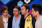 (L-R) Matthew Followill, Nathan Followill, Caleb Followill and Jared Followill of Kings of Leon attend the MTV Europe Music Awards 2016 on November 6, 2016 in Rotterdam, Netherlands.