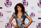 Model Jade Thompson attends the MTV Europe Music Awards 2011 at the Odyssey Arena on November 6, 2011 in Belfast, Northern Ireland.