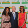 MacDella Cooper Bill Clinton Attends Segal Family Foundation Meeting