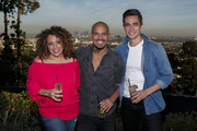 Actors Diana Maria Riva, Amaury Nolasco and Jose Moreno Brooks attend an event hosted by The Macallan for the cast of NBC's Telenovela to celebrate their Season 1 finale on February 22, 2016 in Los Angeles, California.