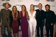 (L-R) .Musician Brian Kelley of Florida Georgia Line, Brittney Marie Cole, Hayley Stommel, Lauren Gregory, Tyler Hubbard of Florida Georgia Line, and Musician Thomas Rhett  attend as Big Machine Label Group celebrates The 49th Annual CMA Awards at Rosewall on November 4, 2015 in Nashville, Tennessee.