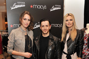 TV personality Louise Roe, designer Kinder Aggugini, and model Edita attend Macy's Celebration  of their 1st Designer Collaboration with Kinder Aggugini at Macy's Herald Square on February 15, 2011 in New York City.