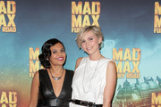 Miranda Tapsell and Sophie Hensser arrive at the Australian Premiere of Mad Max: Fury Road at Event Cinemas George Street on May 13, 2015 in Sydney, Australia.