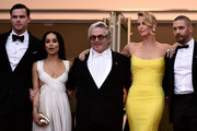 "Nicholas Hoult,Zoe Kravitz,Georges Miller,Charlize Theron, and Tom Hardy attend Premiere of ""Mad Max: Fury Road"" during the 68th annual Cannes Film Festival on May 14, 2015 in Cannes, France."