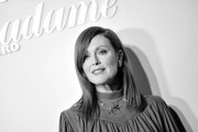 Image has been converted to black and white.) Julianne Moore attends a dinner hosted by Madame Figaro & Louis Vuitton during the 72nd annual Cannes Film Festival at Terrasse Albane on May 18, 2019 in Cannes, France.
