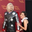 Aubrey Plaza Cozies Up to Wax Thor