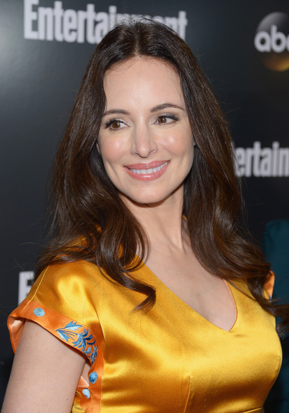 Entertainment Weekly & ABC-TV  Up Front VIP Party [hair,hairstyle,beauty,brown hair,long hair,smile,layered hair,eyelash,model,black hair,madeleine stowe,up front,new york city,dream downtown,entertainment weekly,abc-tv]