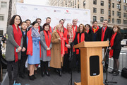(L-R) Dr. Jie Yao, Ambassador Zhang Qiyae, Senator Kirsten Gillibrand, Rob Byrnes, Manhattan Borough President Gale Brewer, Alfred Cerullo, Wellington Chen, President of Madison Avenue Partnership Matthew Bauer, Maryalice Mazzara speak onstage during Madison Street To Madison Avenue: A Lunar New Year Celebration on February 10, 2018 in New York City.