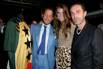 Lapo Elkann Bianca Brandolini D'adda Magazine L'Optimum Dinner - Le Football Vu Par La Mode