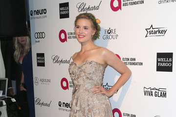 Maggie Grace Arrivals at the Elton John AIDS Foundation Oscars Viewing Party — Part 4
