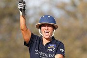 Zara Phillips reacts after playing Polo at the Magic Millions Polo Event  on January 8, 2017 in Gold Coast, Australia.