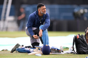 Mahendra Singh Dhoni England And India Net Sessions
