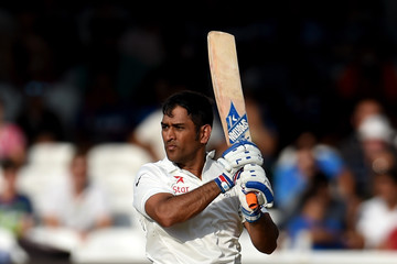 Mahendra Singh Dhoni England v India: 2nd Investec Test - Day Three
