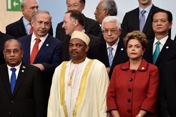 Mahmoud Abbas 21st Session of Conference on Climate Change COP21 Opens at Le Bourget