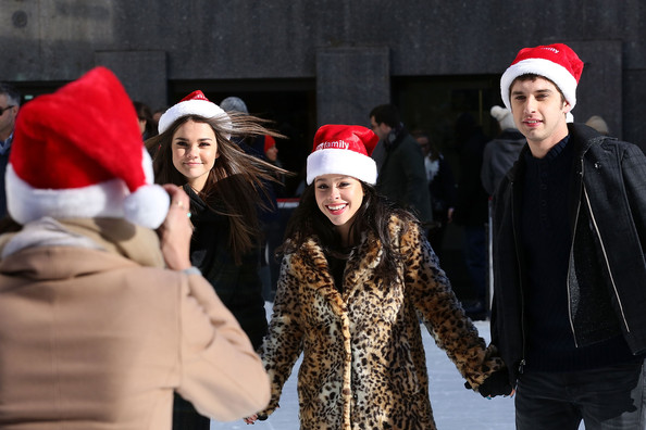 "ABC's ""25 Days Of Christmas"" Celebration [25 days of christmas,christmas,tradition,event,christmas eve,fun,headgear,santa claus,winter,holiday,actors,david lambert,carrie ramirez,maia mitchell,cucina,new york city,rockerfellar center,abc,celebration]"