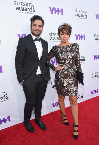 The 5th Annual Streamy Awards - Red Carpet [red carpet,red carpet,carpet,fashion,event,premiere,suit,dress,flooring,award,fashion design,gabriel torrelles,maiah ocando,r,streamy awards,internet personality,california,los angeles,vh1,5th annual streamy awards]