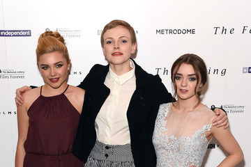 Maisie Williams Florence Pugh 'The Falling' - London Gala Screening - Red Carpet Arrivals