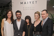 Daniella Vitale, Paul van Zyl, actress Christina Ricci , Kristy Caylor and CEO of Barneys New York, Mark Lee attend the Maiyet launch celebration at Barneys New York on March 15, 2012 in New York City.