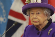 Queen Elizabeth II sits in an auditorium to listen to a speech during a visit to the International Maritime Organization (IMO) to mark the 70th anniversary of its formation on March 6, 2018 in London, England.