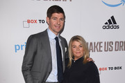 Julie Ann Gerrard and Steven Gerrard attend the World Premiere of 'Make Us Dream' at The Curzon Mayfair on November 14, 2018 in London, England.
