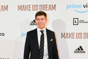 Steven Gerrard arrives at the Premiere of 'Make Us Dream' at FACT on November 15, 2018 in Liverpool, England.