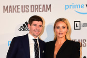 Steven and Alex Gerrard arrive at the Premiere of 'Make Us Dream' at FACT on November 15, 2018 in Liverpool, England.
