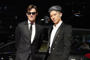 Sam Riley (L) and MIYAVI attend the Japan premiere of 'Maleficent: Mistress of Evil' on October 03, 2019 in Tokyo, Japan.