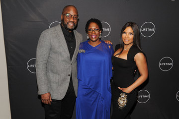 Malik Yoba The Cast and Producers From Lifetime's Film 'Faith Under Fire: The Antoinette Tuff Story' Attend the Red Carpet Screening