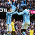 Yaya Toure Photos - Yaya Toure (R) of Manchester City celebrates scoring his team's first goal with his team mate David Silva (L) during the Barclays Premier League match between Manchester City and Aston Villa at Etihad Stadium on March 5, 2016 in Manchester, England. - Manchester City v Aston Villa - Premier League