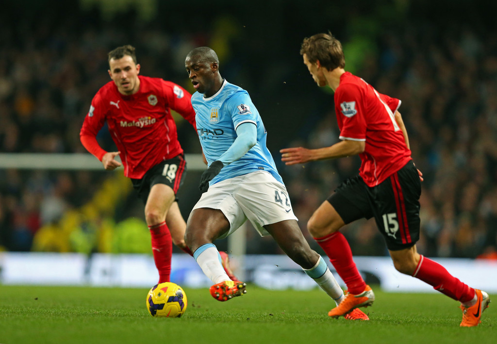 Image result for cardiff city vs man city 2014