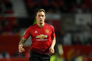 Phil Jones of Manchester United during the Carabao Cup Third Round match between Manchester United and Derby County at Old Trafford on September 25, 2018 in Manchester, England.