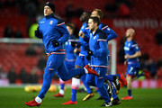 Charlie Adam of Stoke City warms up prior to the Premier League match between Manchester United and Stoke City at Old Trafford on January 15, 2018 in Manchester, England.