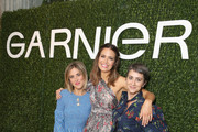 (L-R) Ashley Streicher, Mandy Moore and Jenn Streicher attend a 'Girls' Night In' hosted by Mandy Moore and Garnier at Hills Penthouse on May 3, 2018 in West Hollywood, California.