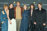 """(L-R) The cast of """"For All Mankind"""", including Sarah Jones, Shantel VanSanten, Joel Kinnaman, Wrenn Schmidt, Jodi Balfour, and Michael Dorman attend the Washington DC premiere of """"For All Mankind"""" at the Smithsonian National Air and Space Museum on October 27, 2019 in Washington, DC."""