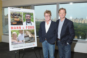 Robert Redford (L) and son, producer Jamie Redford attend the Mann V. Ford screening at Time Warner Center Screening Room on July 11, 2011 in New York City.