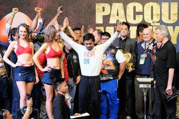 Manny Pacquiao Manny Pacquiao vs. Lucas Matthysse - Weigh In