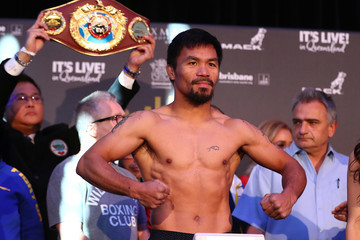 Manny Pacquiao Jeff Horn v Manny Pacquiao Weigh In