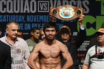 Manny Pacquiao Manny Pacquiao v Jessie Vargas - Weigh-in