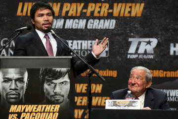 Manny Pacquiao Floyd Mayweather v Manny Pacquiao Press Conference