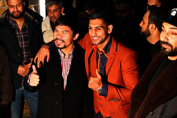 Manny Pacquiao Manny Pacquiao and Amir Khan Discussion