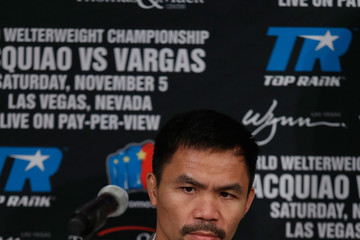Manny Pacquiao Manny Pacquiao v Jesse Vargas - Press Conference
