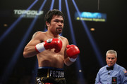 Manny Pacquiao in the ring during the WBA welterweight championship against Adrien Broner at MGM Grand Garden Arena on January 19, 2019 in Las Vegas, Nevada.