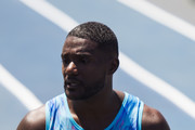 Justin Gatlin of the U.S. is shown after winning the Mano a Mano Athletics Challenge at the Brazilian Jockey Club on october 01, 2017 in Rio de Janeiro, Brazil.