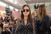 Eleonora Carisi attends the Mansur Gavriel fashion show during New York Fashion Week on September 10, 2017 in New York City.