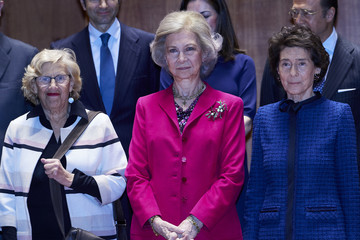 Manuela Carmena Queen Sofia Attends A Meeting With Board Of 'Reina Sofia' School Of Music